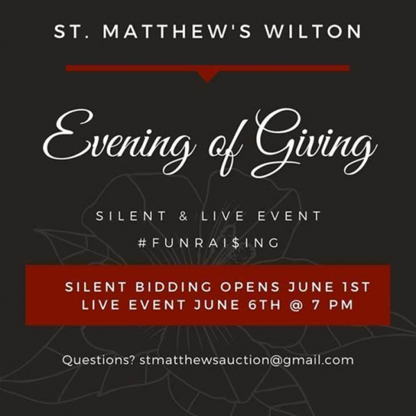 Join Us For An Evening of Giving - Saturday June 6th at 7pm