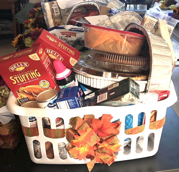 Thank you! Our Thanksgiving baskets were delivered!